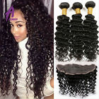 Lace Frontal Closure & Bundles Peruvian Human Hair Extensions Weave Curly Hair