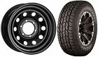 16 x 7 Tuff Torque Modular Steel Black ET0 Wheels & All Terrain Shogun Sport