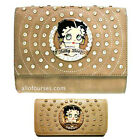 Betty Boop circle quilted Rhinestone wallet cross shoulder bag set purse party $37.09 USD