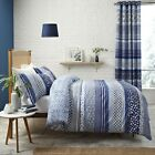 CATHERINE LANSFIELD SANTORINI BLUE REVERSIBLE QUILT DUVET COVER BEDDING SET