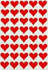 Heart Shaped Small Stickers Decorative Labels For Invitations Craft Art 400 Pack