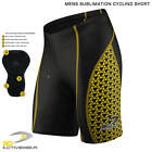 Mens Padded Cycling Shorts 3D Sublimation Bike Knicks Half Tight Pro Bicycle