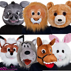 ADULT MASCOT HEAD ZOO ANIMAL NOVELTY MASK MENS LADIES FANCY DRESS