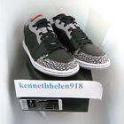 NEW 2008 NIKE AIR JORDAN 1 PHAT LOW BLACK VARSITY RED WHITE CEMENT GREY SIZE 9