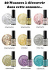 20 Korean Soak off Color Gel Nail Art UV/LED Gel Polish Bigger Size Glitter