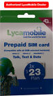Preloaded LYCAMOBILE Triple punch 3in1 SIM Card $19/$23/$29/$39/$50 1/2/3 Months