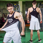 Men's Athletic Vests Compression Workout Gym Shirts Running Tank Tops Sports Tee