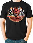 Speed Demon Living Fast Devil Hot Rod T Shirt Vintage Retro Mens Tall T Shirts