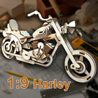 1:9 Harley Davidson Motorcycle 3D Detail Wooden Model Flat Pack Kit, Great Gift