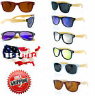 Bamboo Sunglasses Mens Womens Retro Vintage Summer Glasses Vintage Wood Wayfarer