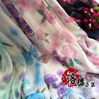 30D printing Chiffon Cloth Country style Skirt Dress Scarf Veil Silk fabric Rose