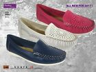 Coolers Premier Ladies  perforated moccasin Shoes / Casual Summer Shoes