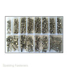 Assorted M3, M4, M5 & M6 Metric Stainless Steel Hex Head Set Screw Bolts & Nuts