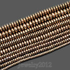 Natural Gemstone Hematite Rose Gold Smooth Faceted Rondelle Beads 2mm 3mm 4mm