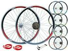 "QR 26"" MTB Bike Bicycle Front Rear 6/7 Speed Free Wheel Set Double Wall Disc Rim"