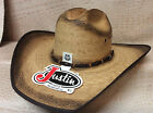 Justin 20X Mexican Palm Bound Edge Vintage Rodeo Western Cowboy Straw Hat