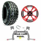 "Yamaha Jake's Golf Cart Lift Kit, 22"" All Terrain Tire & 10"" Wheel Combo"