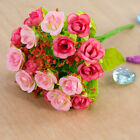 21 Head Artifical Plastic Rose Silk Flower Wedding Bouquet Home Party Decors
