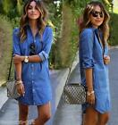 2017 Hot Spring Fashion Women Casual Denim Shirt Blouse Dress Shirt Long Sleeve