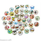 Wholesale Mix Randomly Butterfly Glass Flatback Scrapbooking Dome Cabochons 20mm