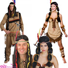 ADULT INDIAN CHIEF PRINCESS WILD WEST COUPLES FANCY DRESS COSTUME OUTFIT