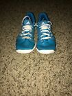 Unisex blue aidas running shoes size 5