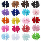 1Pc 3 Inch Kids Hair Bows Boutique Ribbon Hair Clips Double Layer For Girls