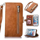 Genuine Leather Wallet credit Card Holder Purse Flip Stand iphone 6 Case Cover