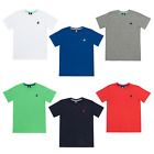 Boys Polo Logo Cotton T Shirt Ages 7,8,9,10,11,12,13 Various Colour NEW/TAGGED