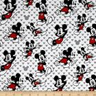 LICENSED VINTAGE MICKEY MOUSE DISNEY KIDS SEWING CRAFT QUILT FABRIC Free Oz Post