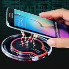 Clear Qi Wireless Fast Charger Charging Pad for Samsung Galaxy S8 Plus S7 Edge