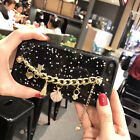 Luxury Bling Sparkle Giltter Charm Strap Soft Case Cover for iPhone 6 6S 7 Plus