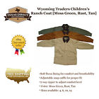 Western Canvas Ranch Chore Jacket [Children & Youth Sizes] Green, Rust, Tan