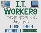 "IT Workers Lose Their Memory Cross Stitch Design (10x8"",25x20cm,kit/chart)"