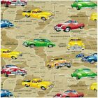 GOLDEN HOLDEN AUSTRALIA VINTAGE CARS QUILT SEWING FABRIC Free Oz Post
