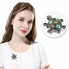 1x Lovely Turtle Rhinestone Charm Animal Christmas Party Brooch Pin Crystal Gift