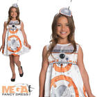 BB-8 Girls Fancy Dress Stars Wars Film Disney Kids Childrens Book Costume Outfit