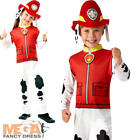 Paw Patrol Marshall Boys Fancy Dress Fire Fighter Book Day Dog Kid Child Costume