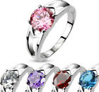 Womens Silver Stainless Steel CZ Solitaire Prong Set Ring. Nice New Fashion Ring