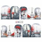 Nail Art Water Decals Transfers Stickers Paris Holidays Love Cat Valentines