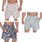 Mens Swim Shorts Boys Palm Print Beach Surf Summer Holiday Microfibre Trunks New