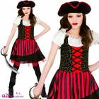Girls Pretty Pirate Costume Child Caribbean Sailor Kids Fancy Dress 3 - 13 Years