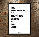 "Bruce Lee Quote ""Possession Of Anything Begins In The Mind Poster Print Wall Art"