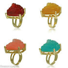2017 Fashion Volcano Crystal Rock Ore Adjustable Size Women Girl Ring Jewelry