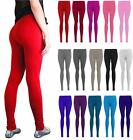 NEW WOMENS LADIES PLAIN STRECHY VISCOSE FULL LENGTH LEGGING PLUS SIZE 8 TO 26