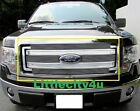 For 2013 14  Ford F150 F-150  Billet Grille Grill  Inserts Polished Face boton