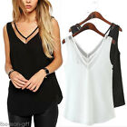 Sexy Womens Mesh Gauze Chiffon Vest Tank Top Sleeveless Summer V Neck Shirt GIFT