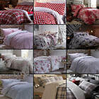 Catherine Lansfield - Flannelette Duvet and Pillowcase Set from 100% Cotton