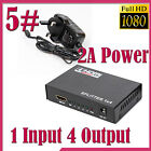 2 4 3 5 Port 1080P 3D HDMI Auto Switch Switcher Selector Splitter Hub iR Remote