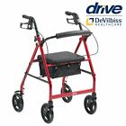 Folding Ultra Lightweight Rollator Wheeled Walking Frame 4 Wheel Mobility Walker